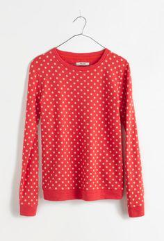 Madewell heartstripe sweater.