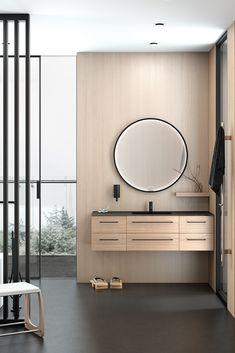 Bring naturen inn på badet med teksturer i tre. Moderne og elegant baderomsinnredning fra Dansani. Mirror, Bathroom, Furniture, Home Decor, Lily, Washroom, Decoration Home, Room Decor, Mirrors