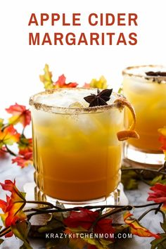 Here it is...the best Apple Cider Margaritas you'll ever taste! Apple cider, tequila, triple sec, and a splash of a secret ingredient witha cinnamon sugar rim, of course. Triple Sec Cocktails, Best Apple Cider, Raspberry Cocktail, Recipe For Teens, Cocktail Recipes, Drink Recipes, Brunch Recipes, Breakfast Recipes, Dessert Recipes