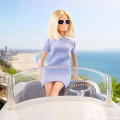Stopping for a serene scenic moment while cruising down the coast!  #barbie #barbiestyle