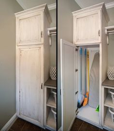 Can it be made flush with floor so vacuum cleaner can just roll in? Laundry Room - Kitchen Design Pictures | Pictures Of Kitchens | Kitchen Cabinet Ideas | Cabinetry Gallery