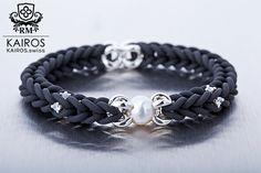 Fresh water pearl bracelet with white Swarovski Zirconia and silver elements. Designer fashion bracelet by KAIROS. Swarovski Bracelet, Freshwater Pearl Bracelet, Water Pearls, Fashion Bracelets, Fresh Water, Silver, Fashion Design, Jewelry, Armband