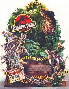 Jurassic Park, movie art from tumbler