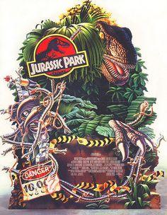 Jurassic Park, movie art from tumbler