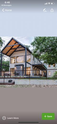 modernes bauernhaus in texas mit wei er fassade frontansicht in 2018 pinterest haus. Black Bedroom Furniture Sets. Home Design Ideas