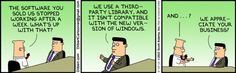 Dilbert Comic - Software Compatibility #Comic #Funny #IT