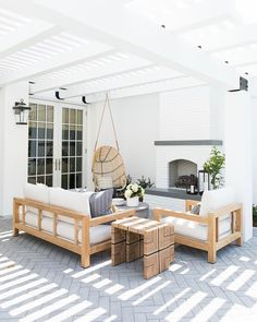 In a farmhouse design, the side table seems to have important roles that are unreplaceable. The farmhouse side table is Outdoor Spaces, Outdoor Living, Outdoor Decor, Outdoor Hanging Chair, Hanging Chairs, Outdoor Lounge, Outdoor Projects, Outdoor Seating, Minimalism Living