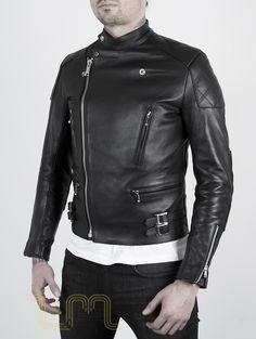 Leather Cafe Racer Biker Jacket: Invictus by Leather Monkeys three