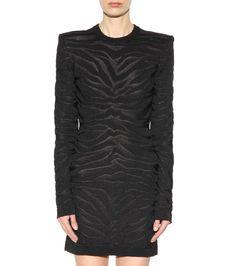 Balmain - Robe noire en jacquard