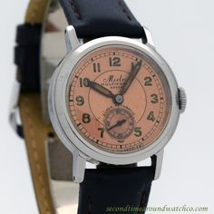 b1c8ad0e116 1960 s Vintage Mido Multifort Extra Ref. 9434 Stainless Steel Watch
