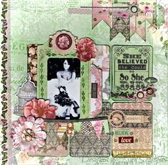 She believed layout by Lynn Shokoples featuring the Madeleine Collection.