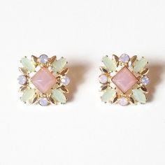 Jewel Square Studs | Lemon Drop Boutique | $10.00