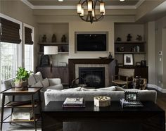 Classic Contemporary Living & Family Room by Susan Fredman  on HomePortfolio
