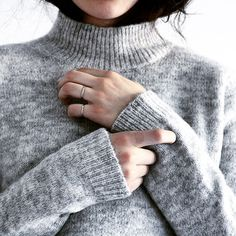 Blogger Monja Wormser in Samsøe & Samsøe knit.