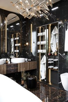 Glamorous and exciting bathroom decor. See more luxurious interior design details at luxxu.net #luxxumoderndesignliving #lifestylebyluxxu #luxury #luxurydesign #luxuryfurniture #furnituredesign #furniture #moderndesign #designinspiration #designinspo #luxuriouslifestyle #interiordesign #modernlamps #luxurylamps #luxurychandeliers #bathroom #bathroomdesign #bathroomselfie #BathroomDecor #bathroomremodel #bathrooms #bathroominspo #bathroomideas #bathroompic #bathroomgoals #bathroomrenovation
