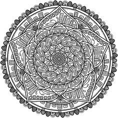 Krita Circles Mandala 6 von Del Angharad (WelshPixie) - Coloring: Floral in Nature - Adult Coloring Pages, Mandala Coloring Pages, Colouring Pages, Coloring Books, Mandalas Painting, Mandalas Drawing, Mandala Design, Mandala Art, Celtic Mandala