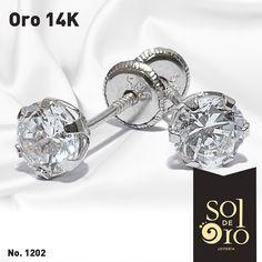 9775c6d1e724 Dormilonas en oro 14k disponible en zirconia o diamantes