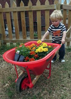 Gardening at 24 Months! Great pics and tips and activities from a NEW Montessori mom blogger at the GG Life Journey blog!