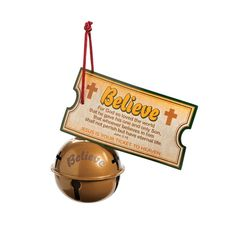 Religious Believe Bell Christmas Ornaments with Card