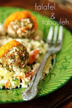 Raw vegan falafel and tabouleh   Flickr - Fotosharing!