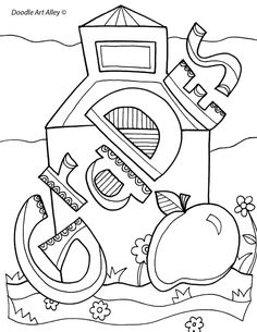 Enjoy some school subject coloring pages. These are great