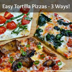 Tortilla Pizza on Pinterest | Flatbread Pizza Recipes ...