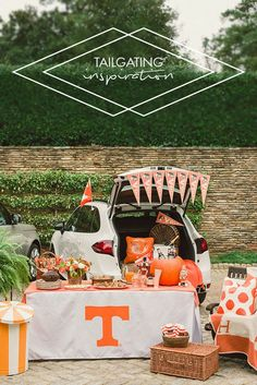 Deck out your outdoor space with school spirit and pride. This game-day decor is sure to spark some tailgating inspiration with all its festive colors!