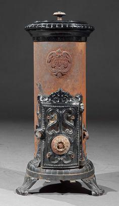 Godin Cast Iron Wood or Coal Burning Stove :