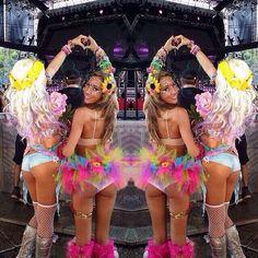 Edm rave girls // edm festival fashion //