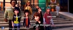 Aunt Cass is in the Hirogo ship oh and also notice that gogo is looking at hiro:) Big Hero 6, Gogo Tomago, Boboiboy Anime, Funny Quotes, Funny Memes, Girl Meets World, Kids Shows, Black And White Pictures, Series Movies