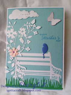 A Mother's Day card made almost entirely of everything Memory Box dies.