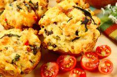 Pumpkin, Goats Cheese And Parmesan Savoury Muffins
