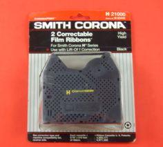 Smith Corona 2 Correctable Film Ribbons Black H-Series H21000 /- H 63446