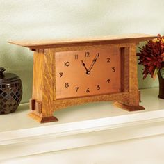 Arts and Crafts Mantel Clock Woodworking Plan from WOOD Magazine