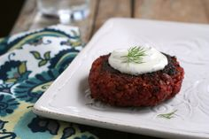 Deliciously savory beet burgers