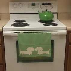 Wiener dog kitchen dish towels make dish duty not too bad. Available in lots of colors. The make a lovely Christmas or hostess gift item for the doxie lover.