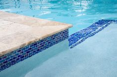 waterline pool tiles - Google Search Pool Coping, Swimming Pool Tiles, Swimming Pool Designs, Waterline Pool Tile, Pool Pavers, Pool Finishes, Pool Colors, Pool Remodel, My Pool
