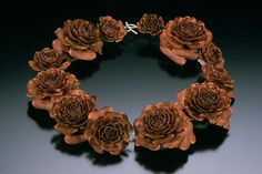 cypress rose pinecone necklace