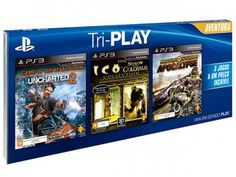 Tri-Play Aventura para PS3 Sony - Uncharted 2 - Ico & Shadow of the Colossus MotorStorm Apocalypse