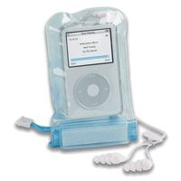 Don't risk it while you're on the water, grab a waterproof pouch for your ipod and mp3 players.