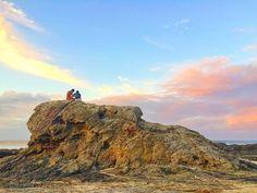 It's hard to imagine..   #sky #sun #sunset #phunissinaustralia #goldcoast #beach #currumbinbeach #currumbin #stone by phuniss http://ift.tt/1X9mXhV