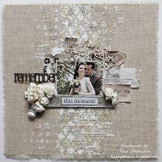 Wedding layout @happytin4ik #scrapbookinglayout #scrapbooklayout #shabbychic…