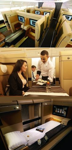ETIHAD AIRWAYS First Class  - Private cabin, Inflight Chef and much much more!