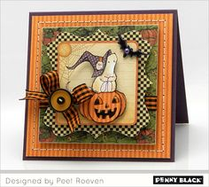Jean's spooktacular cards last week have us all inspired to reach for our favorite fall/Halloween stamps!  Join us this week as our designers share their very own Spooktacular stamping! Today we fe...