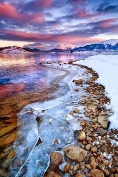 Beautiful Lakes | Lake Campotosto, Abruzzi, Italy in the mountains