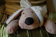 Olive the Snuggly Fleece Plush Puppy Dog by EstherMouse on Etsy