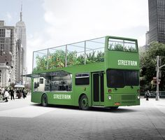 StreetFarm is a former New York sightseeing bus turned food truck that cooks fresh meals, using ingredients grown on its own rooftop farm. I...