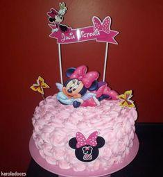 Minnie Mouse, Minnie Baby, 4th Birthday, Birthday Cake, Bolo Mickey, Yummy Treats, Alice, Desserts, Food