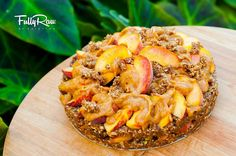 Fully raw / vegan peach cobbler. Recipe found at FULLY RAW KRISTINA  @ YOUTUBE