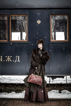 Anna Karenina in Steampunk Style Orient Express, Pinup, Steam Girl, Moda Vintage, Russian Fashion, Looks Vintage, Train Travel, Train Trip, Costume